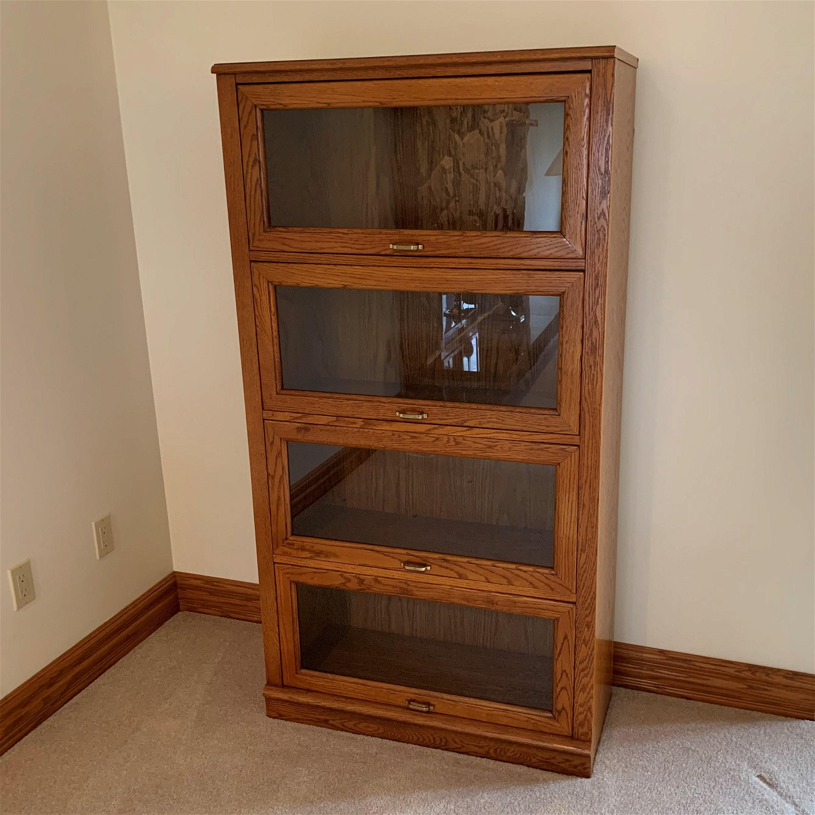 Wood Display Case w/ Glass Drawers