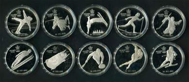 Canada Olympic Winter Games Coins