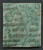 Great Britain 1867 One Schilling Green Imperf S/C #54