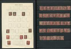 Great Britain Victoria One Penny Red Stamp Collection 2