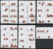 Great Britain Victoria One Penny Red Stamp Collection 4