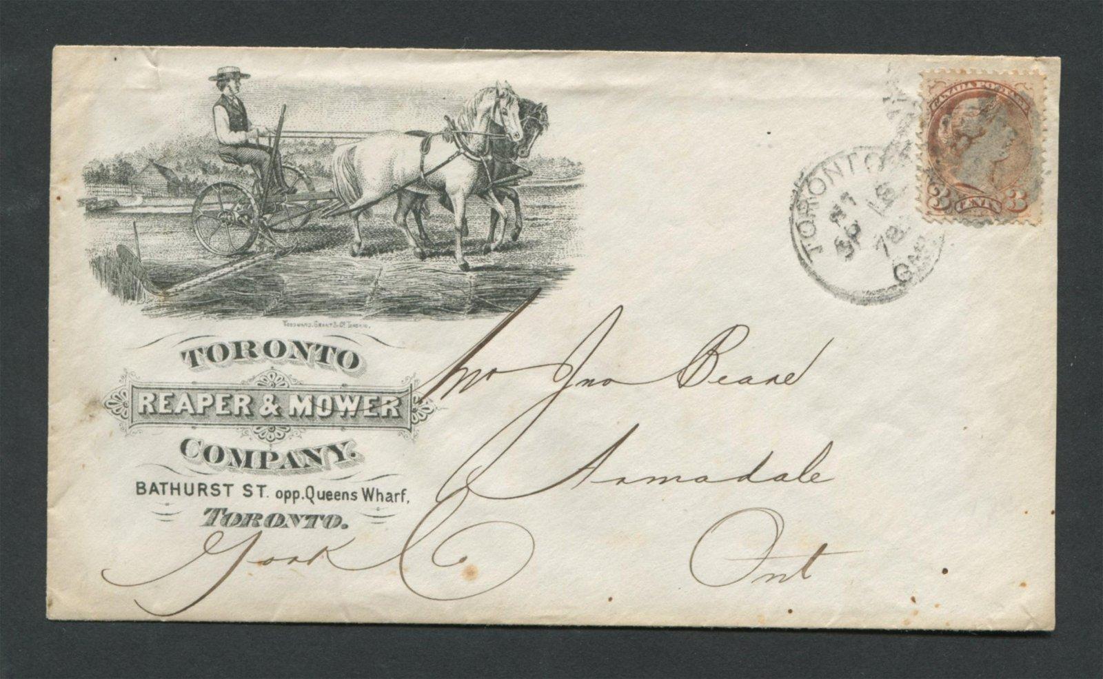 Canada Advertising Cover 1878 RARE