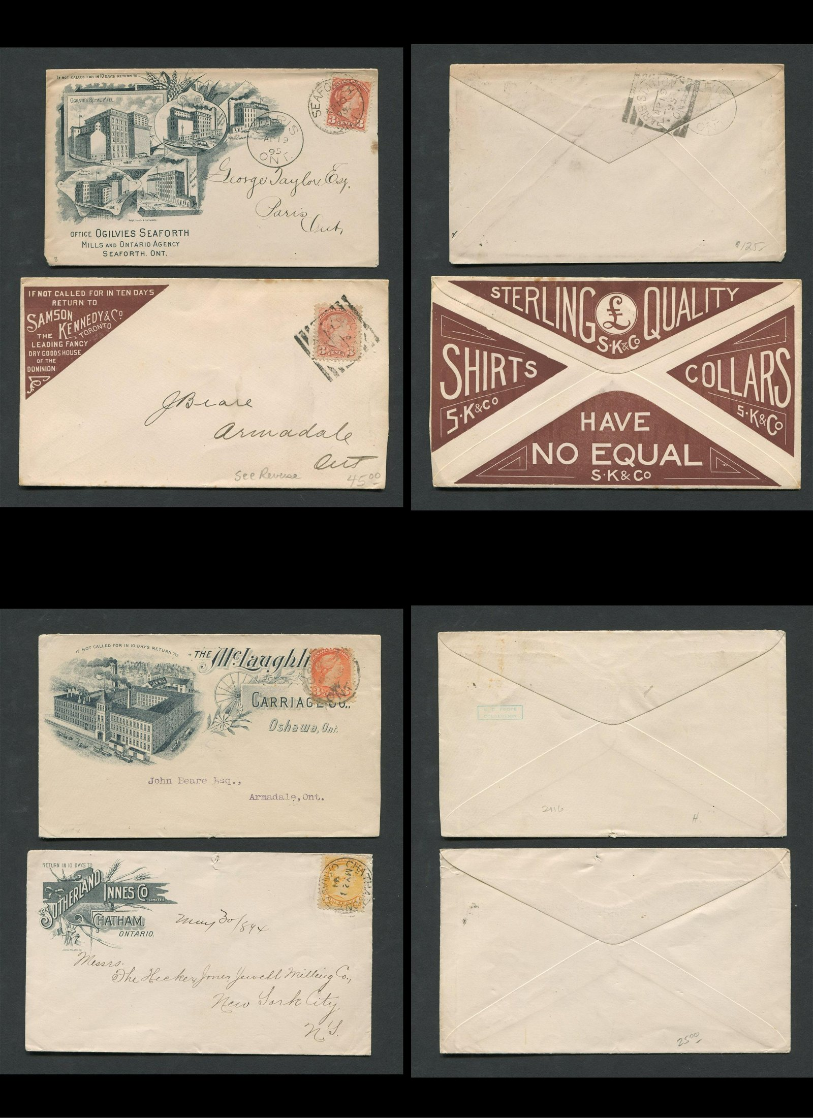 Canada Advertising Stamp Covers Collection 5