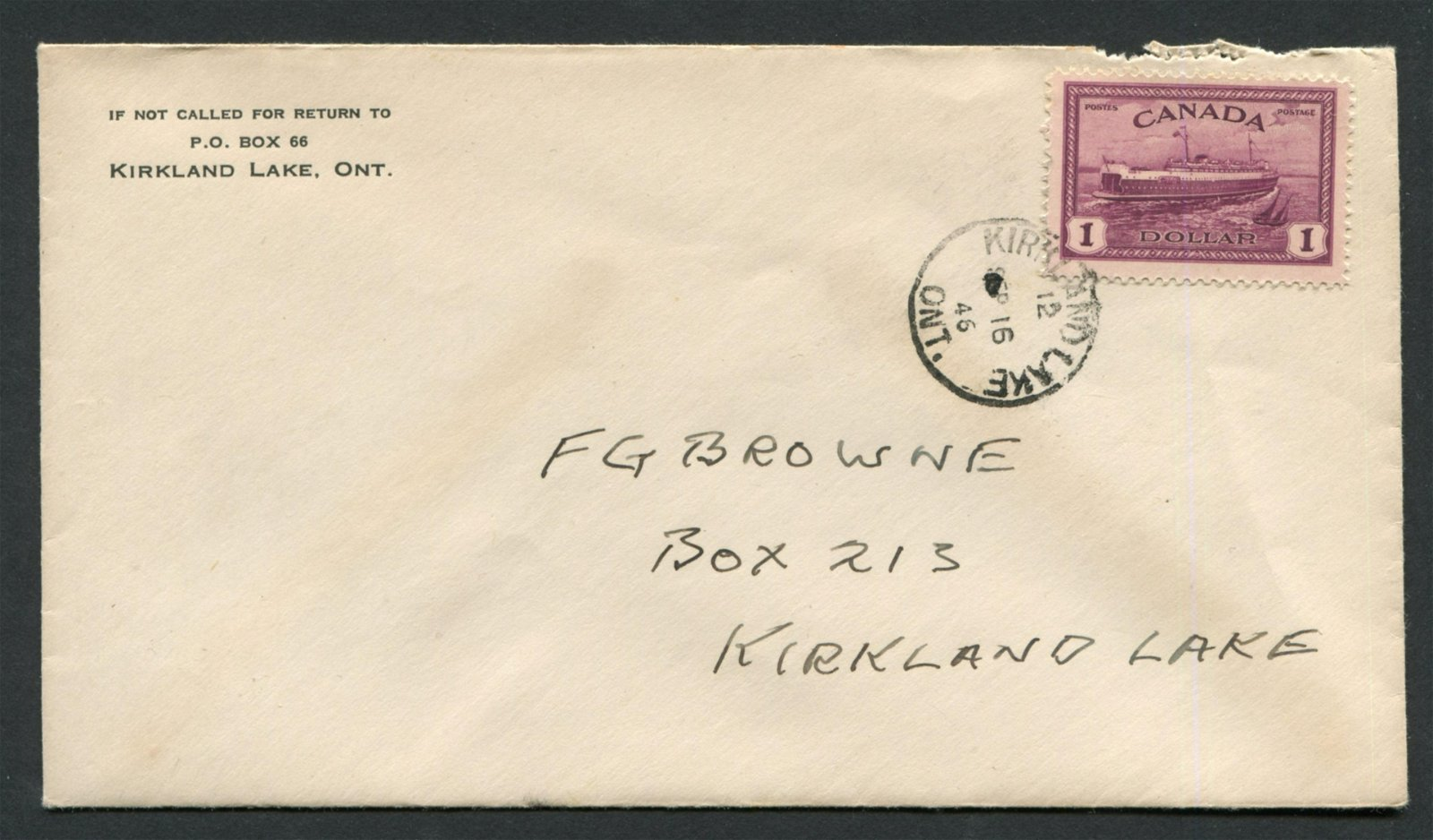 Canada 1946 #273 $1 Red Violet FDC