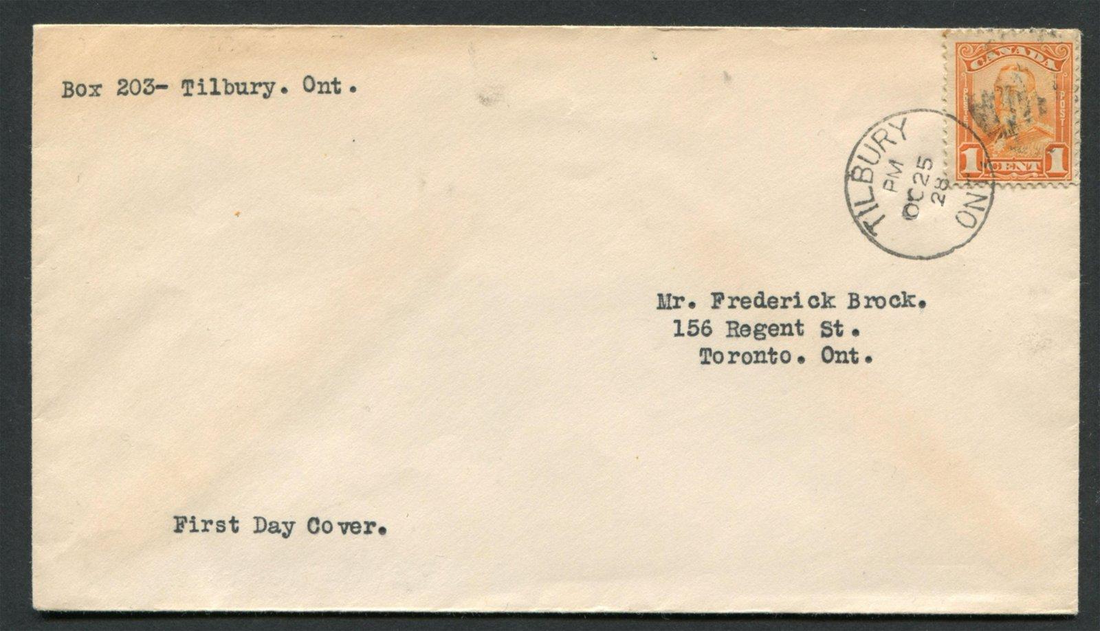 Canada 1928 #149 1c Orange FDC