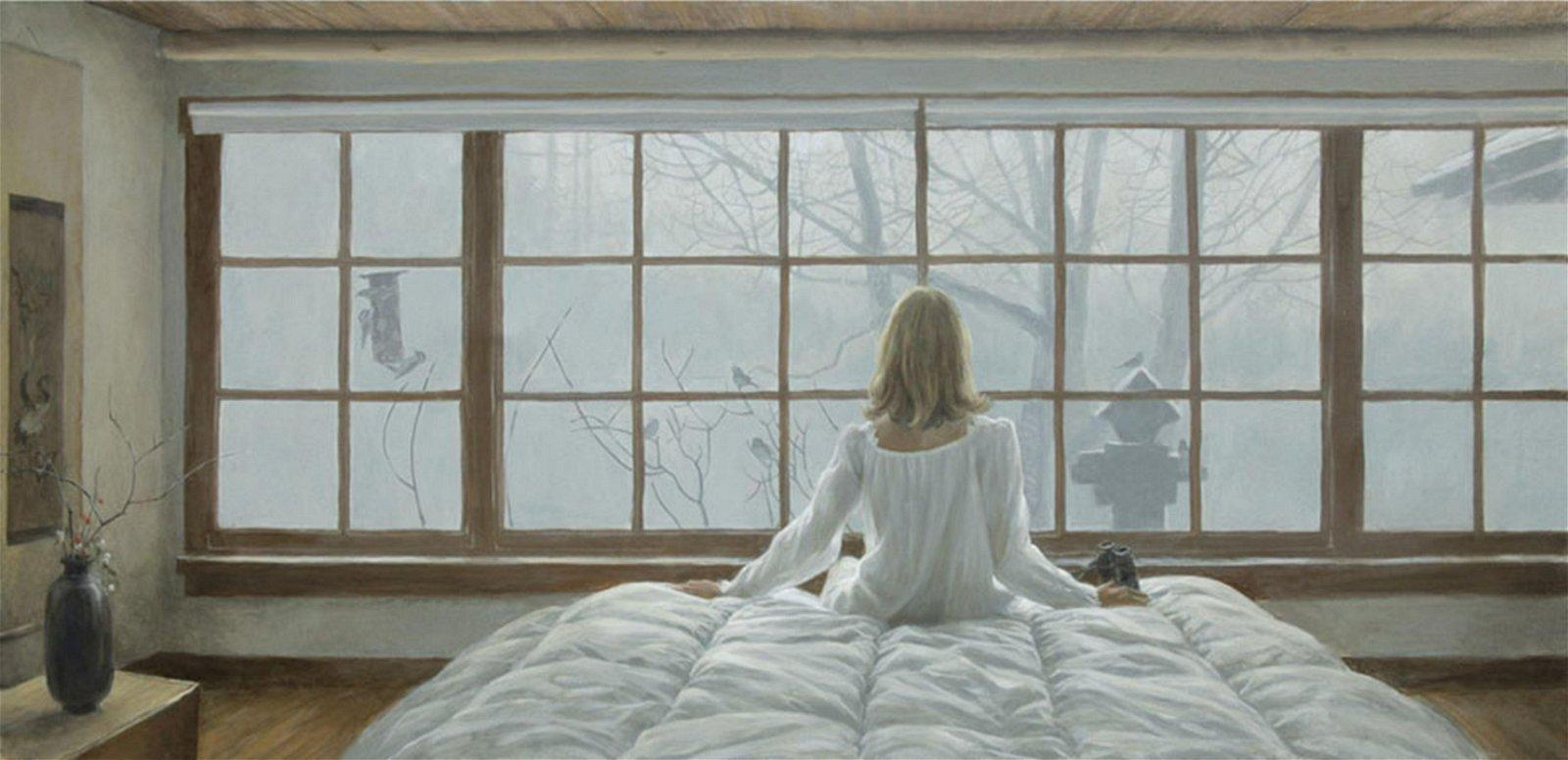 "Robert Bateman's ""Birdwatching"" Limited Edition Canvas"