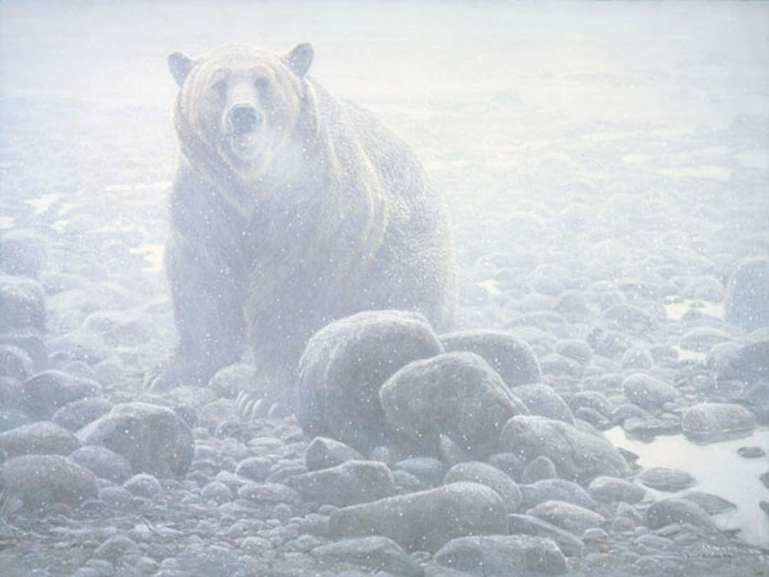 """Robert Bateman's """"End of Season - Grizzly"""" Limited"""