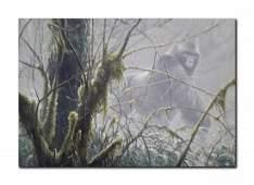 """Robert Bateman's """"Intrusion- Mountain Gorilla"""" Canvas"""