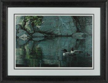 "Robert Bateman's ""Northern Reflections - Loon Family"""