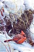 "Robert Bateman's ""Winter Cardinal"" Limited Edition"