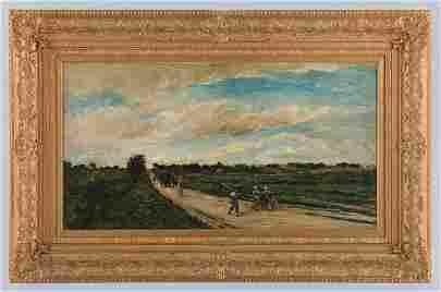 "Charles-Francois Daubigny's ""Going To Work"" Original"
