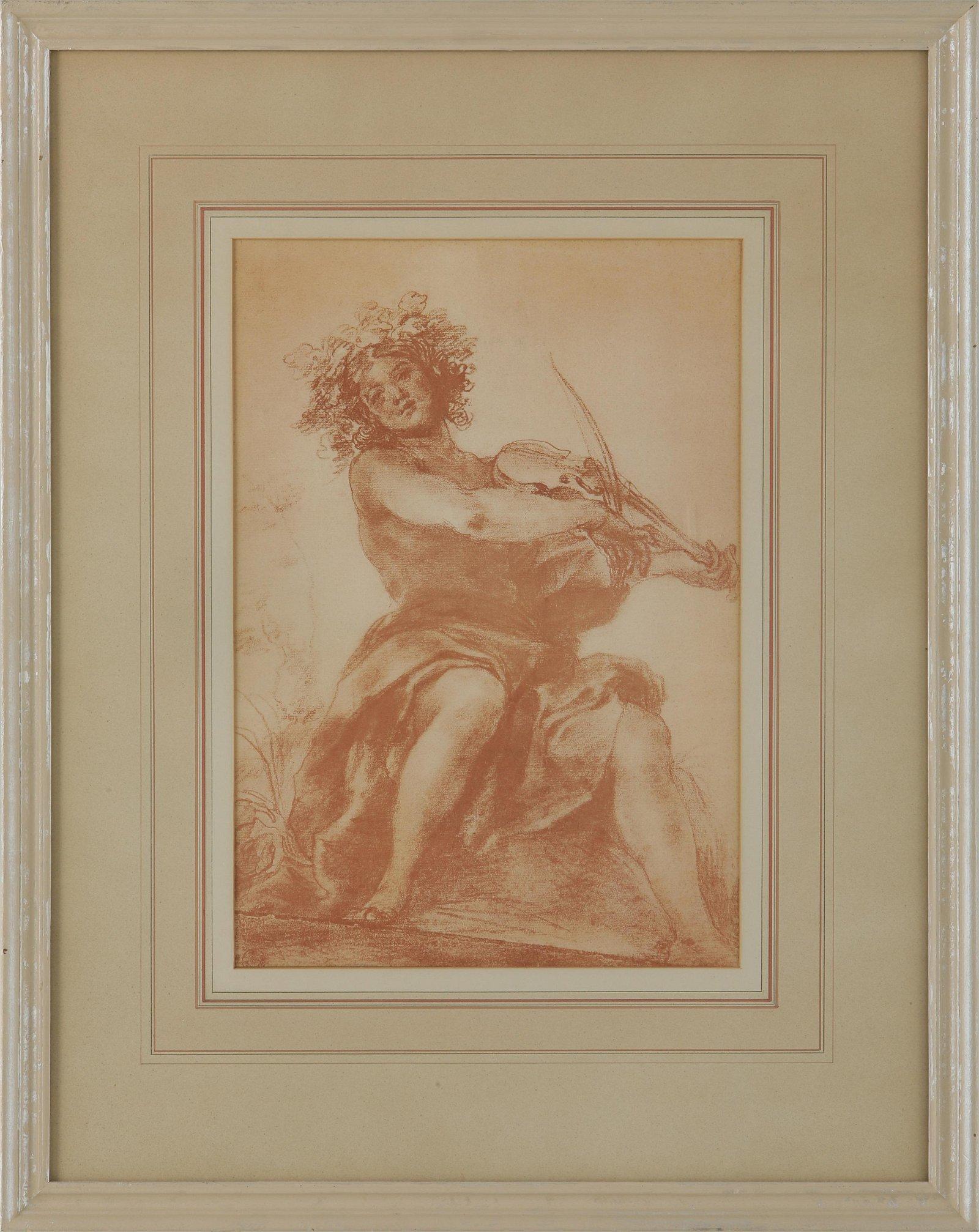"""Giovanni da San Giovannii (1592-1636) """"Un Suona Tore Di"""