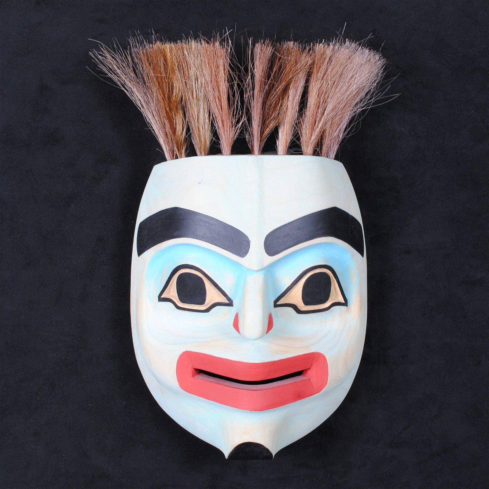 "Wayne Alfred's ""Tzinget Shaman"" Orig. Wood Carved Mask"