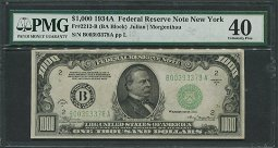 USA 1934A $1,000 Bank Note PMG 40  EF