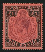 Bermuda 1910-1924 #54 1 Pound Black and Violet Red VF