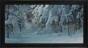 "Doug Laird's ""Bengal White"" Framed Original Painting"