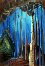 """Emily Carr's """"Blue Sky"""" Giclee Canvas Reproduction"""