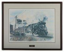 """Wentworth Folkins' """"Prairie Freight"""" L.E. Print"""