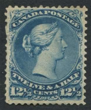 Canada 1868 #28 12 1/2 Cent Blue MLH OG