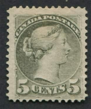Canada 1876 #38 5c Slate Green VF