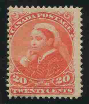 Canada 1893 #46 20 Cent Vermillion F