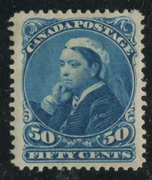 Canada 1893 #47 50c Deep Blue VF MH