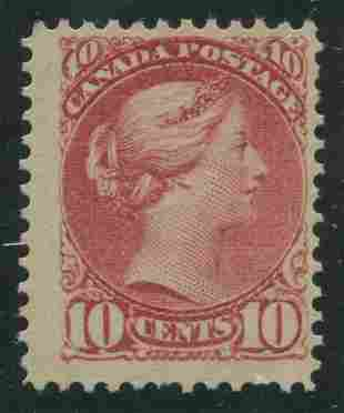 Canada 1897 #45 10 Cent Brown Red F