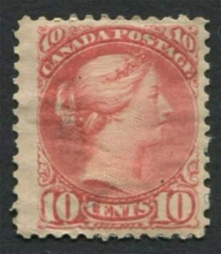 Canada 1897 #45 10c Br Red F MH OG