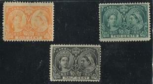 Canada 1897 #50-#52 F/VF MH/MNH