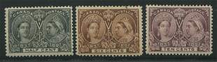Canada 1897 #50, #55, #57 Jubilee Stamp Collection VF