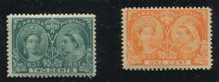 Canada 1897 #51-#52 F/F-VF MNH
