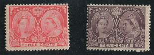 Canada 1897 #53 and #57 F+/F MLH