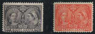 Canada 1897 #56 and #59 F/F+ MLH