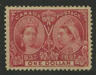 Canada 1897 #61 $1 Lake VF MH