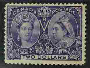 Canada 1897 #62 $2 Jubilee F+