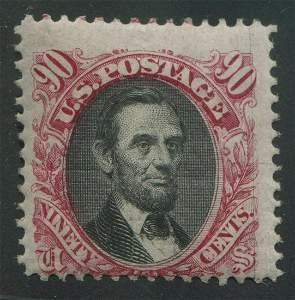 USA 1869 #122 90c Carmine and Black VG MH