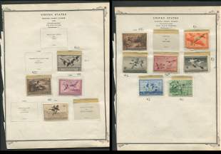 USA Hunting Permit Duck Stamp Collection 1936-