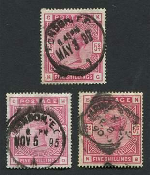 Great Britain 1884 #108 5sh Carmine Rose WMK #31