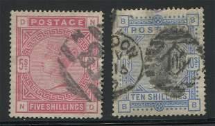 Great Britain 1884 #108, #109