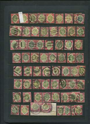 Great Britain 1902 #138 1sh Carmine and Dull Green