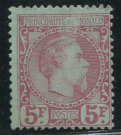 Monaco 1885 #10 5fr Rose Green VG UN