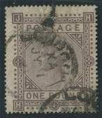 Great Britain 1878 #75 1 Pound Brown Lilac U F