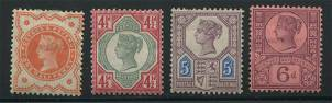 Great Britain 1887-1892 Stamps
