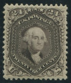 USA 1875 #109 24c Deep Violet XF MPH