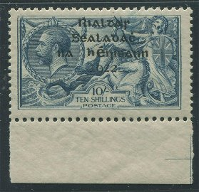 Ireland 1922 #14 10sh Gray Blue VF MNH