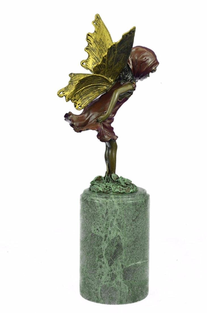 Angel Fairy Red Patina Bronze Statue - 6