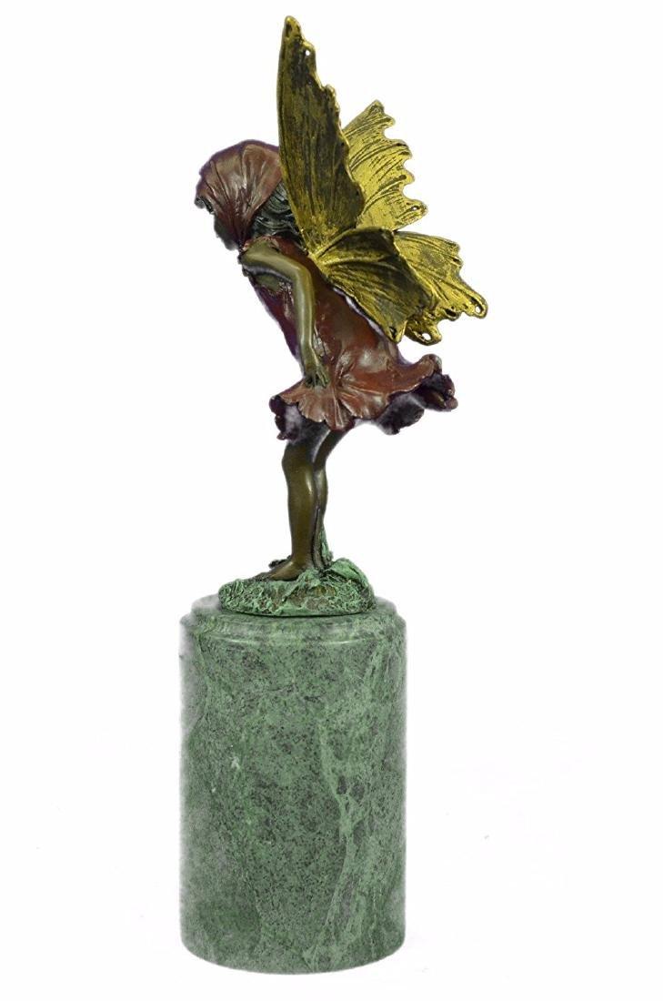 Angel Fairy Red Patina Bronze Statue - 8