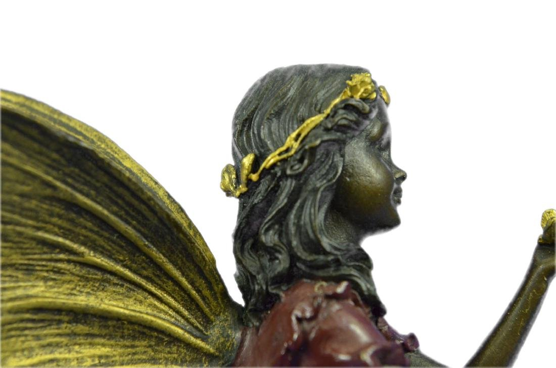 Angel Bronze Sculpture on Marble Base Statue - 2