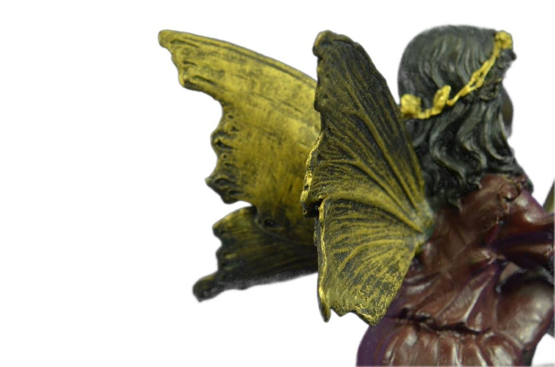 Angel Bronze Sculpture on Marble Base Statue - 4