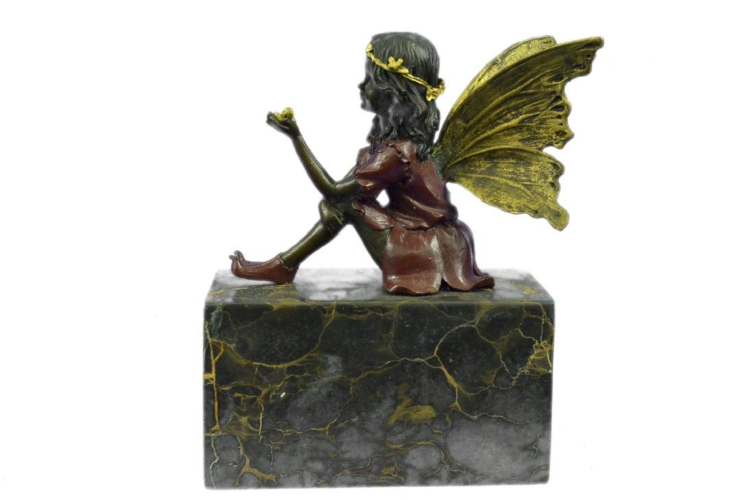 Angel Bronze Sculpture on Marble Base Statue - 7